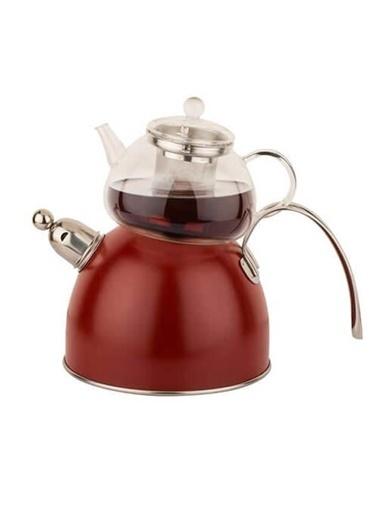 Chef Nature Kırmızı Düdüklü Çaydanlık Takımı-Tantitoni